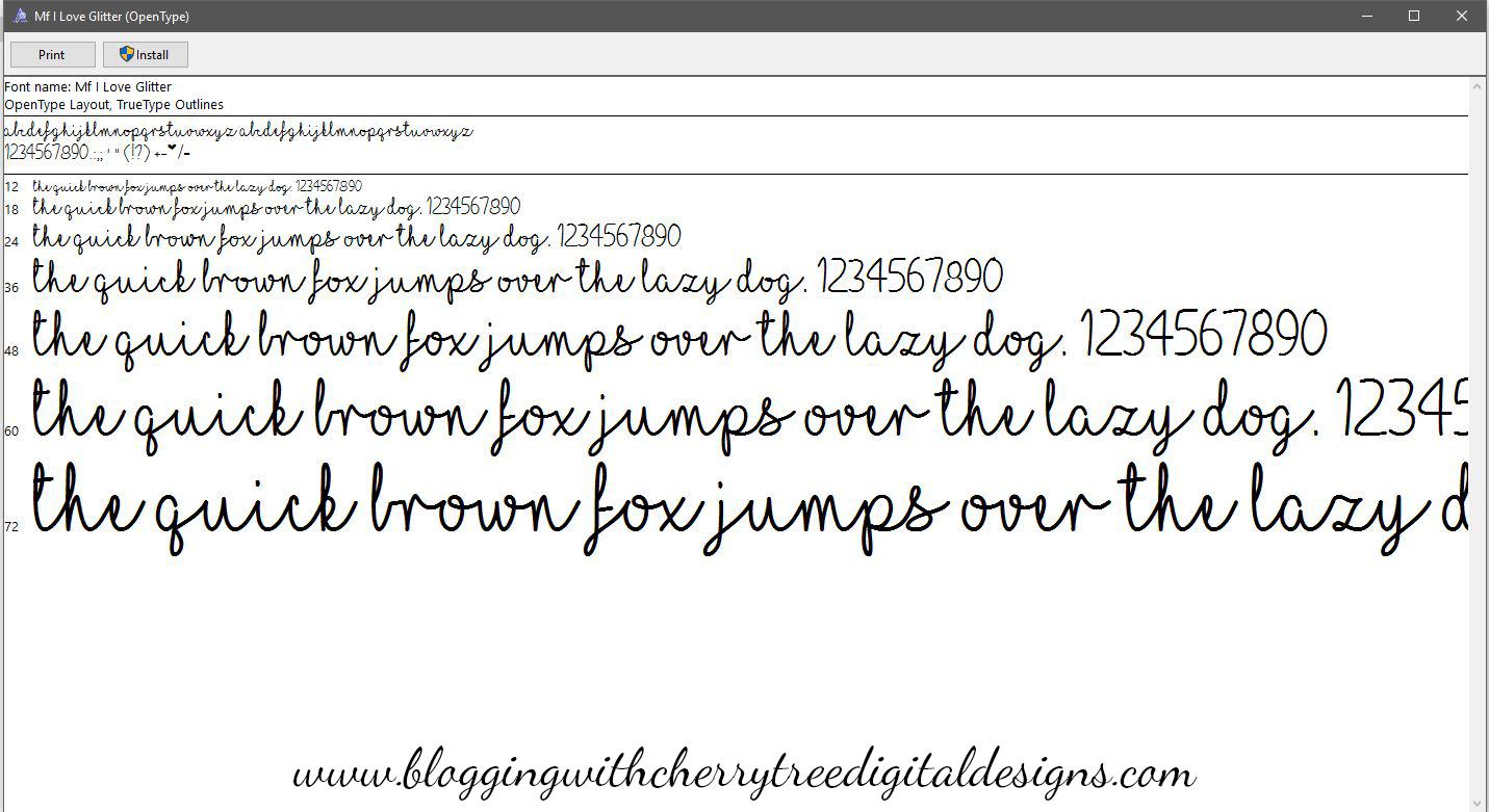 How to download and install a font to use in your Silhouette